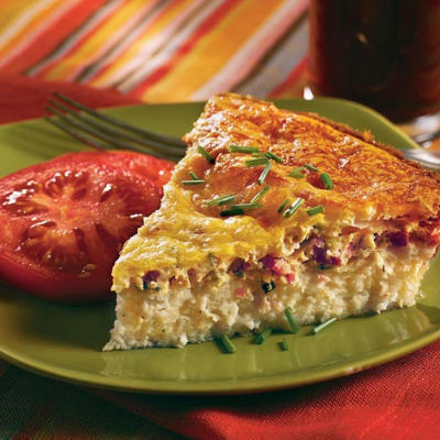 Easy Egg Recipes: Savory Ham-and-Swiss Breakfast Pie - 13 Breakfast ...