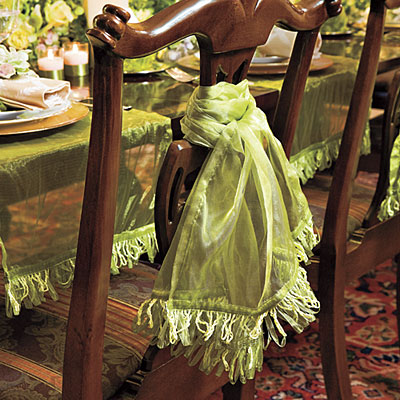 chair swags christmas dinner decorating ideas southern living