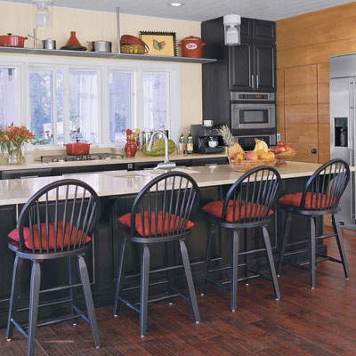 Black and red kitchen idea house kitchen design ideas for Southern style kitchen ideas