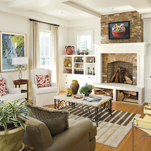 Interior Design Living Room Also Country House Plans Southern Living