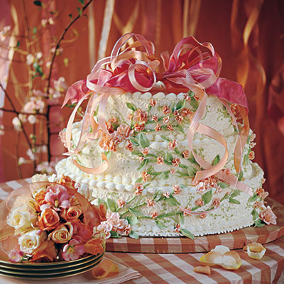 peaches and cream wedding cake how to make your own wedding cake southern living. Black Bedroom Furniture Sets. Home Design Ideas