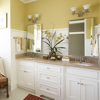Cottage style master bathroom luxurious master bathroom design ideas southern living - Master bath vanity design ideas ...