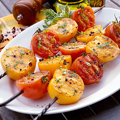 Grilled Tomatoes with Basil Vinaigrette Recipe - 33 Fresh Tomato ...