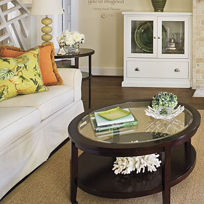 Sofa and coffee table design tips design ideas for for End table decorating tips