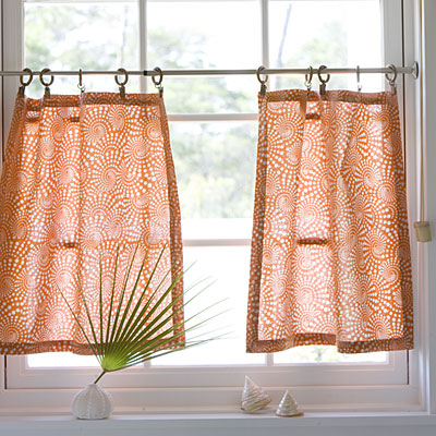 use caf curtains for kitchen to renovate it drapery
