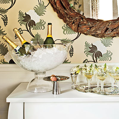 champagne bars christmas table decorations southern living