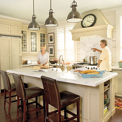 Coastal style kitchen lighting room ornament for Southern style kitchen ideas