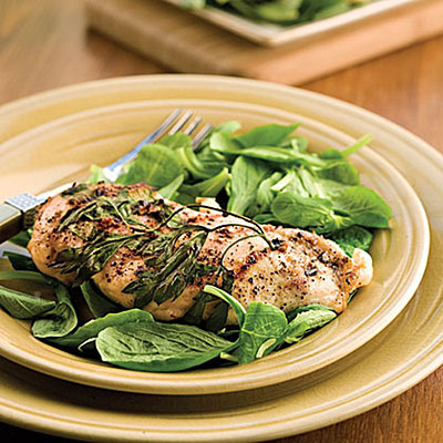 ... herb to enhance the flavor of grilled chicken. Remove the herb sprig