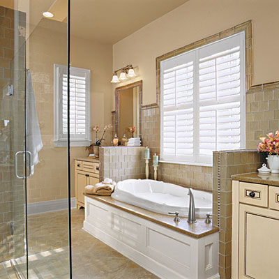 Two Vanities And A Divided Walk In Closet Keep Morning And Evening Southern Living Bathroom Ideas