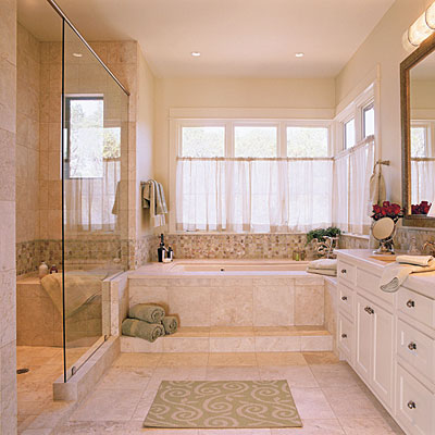 Soothing Master Bathroom Luxurious