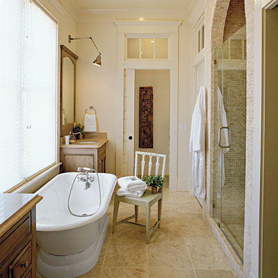 master bathroom decorating & design: add character with