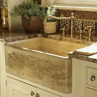 Apron Front Farmhouse Kitchen Sink : Kitchen Sinks: Apron-Front Sink - Kitchen Sinks - Southern Living