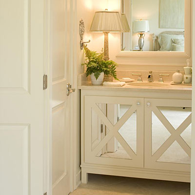 ... Make the Space Seem Larger - Comfortable Guest Baths - Southern Living