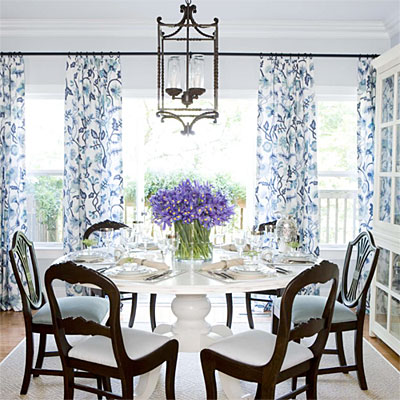 casual dining room ideas blue