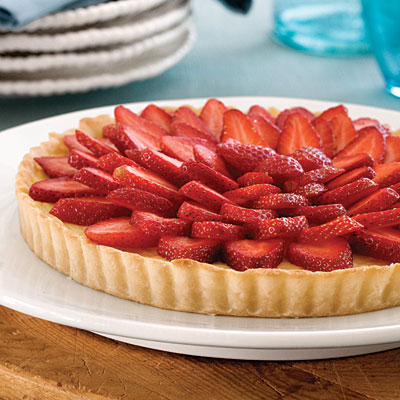 Strawberry Balsamic Custard Tart Recipes — Dishmaps