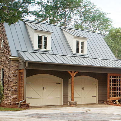 Find a charming wood garage door southern living for Garage style homes