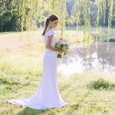 Simple And Structural Gown Gorgeous Cap Sleeve Wedding