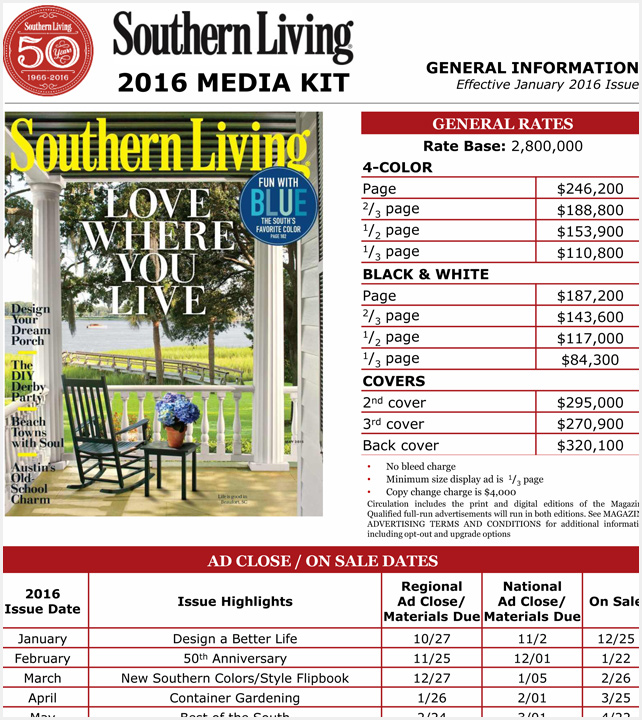 advertise with southern living