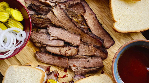Brisket Sandwich With Texas BBQ Sauce