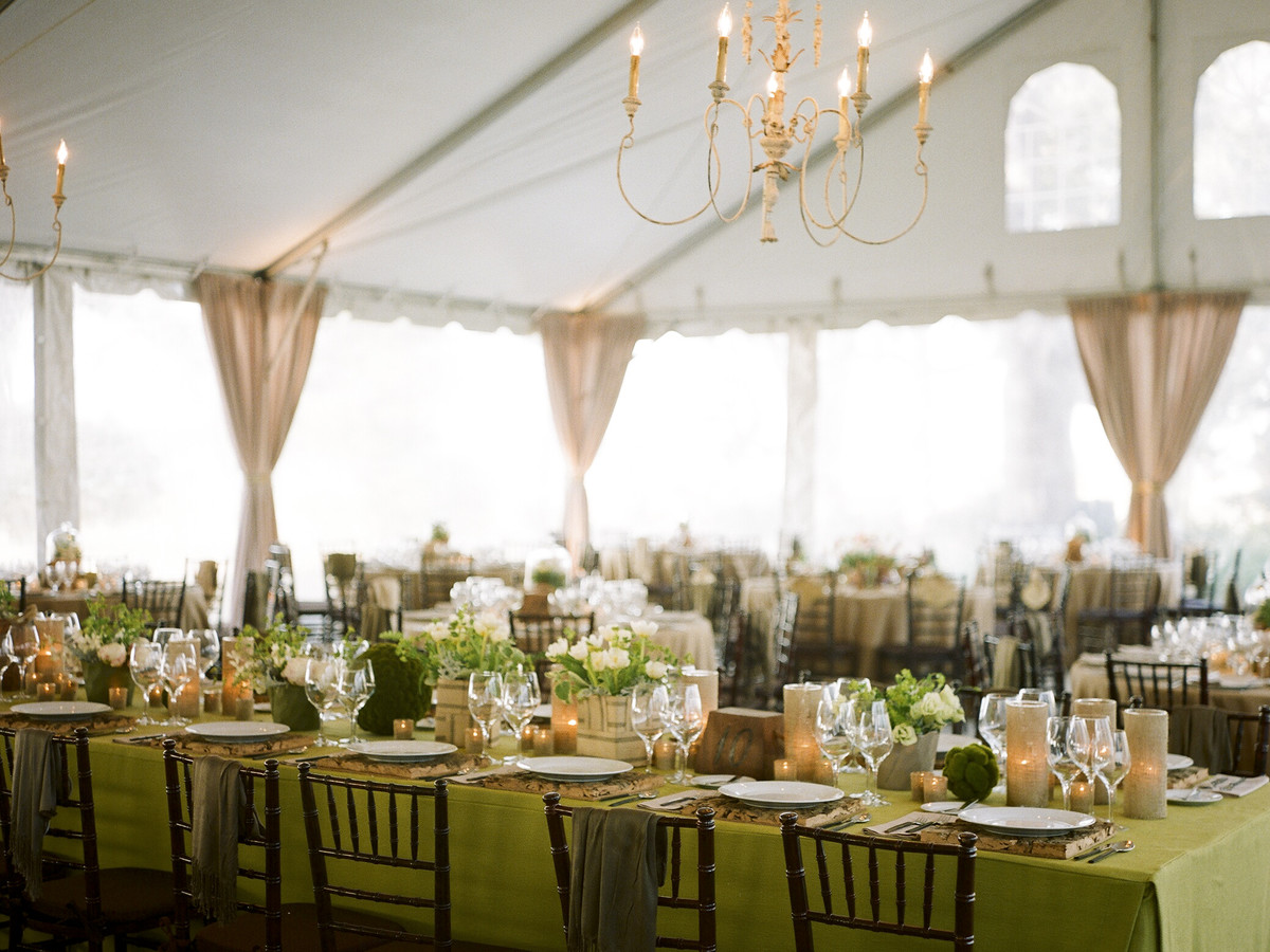 12 ways to pull off the perfect christmas wedding southern living christmas green party decor junglespirit Image collections