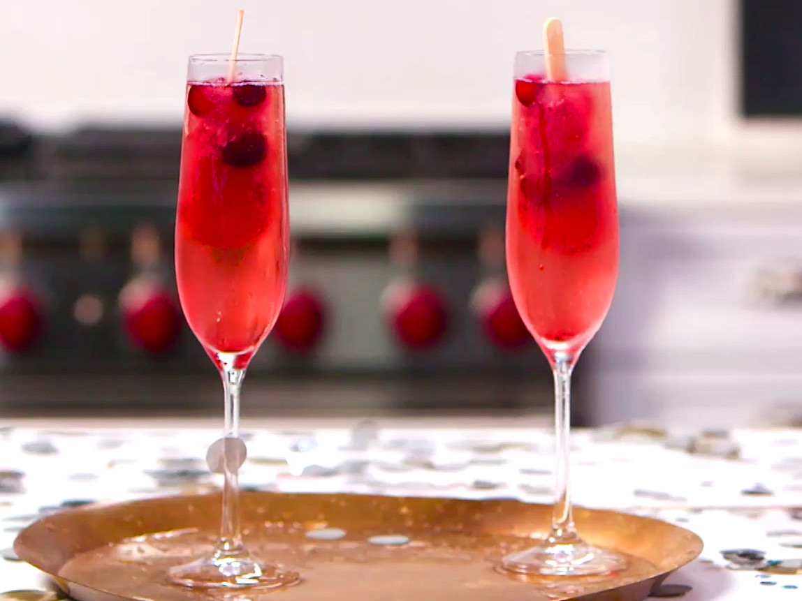 Cranberry Champagne Pops