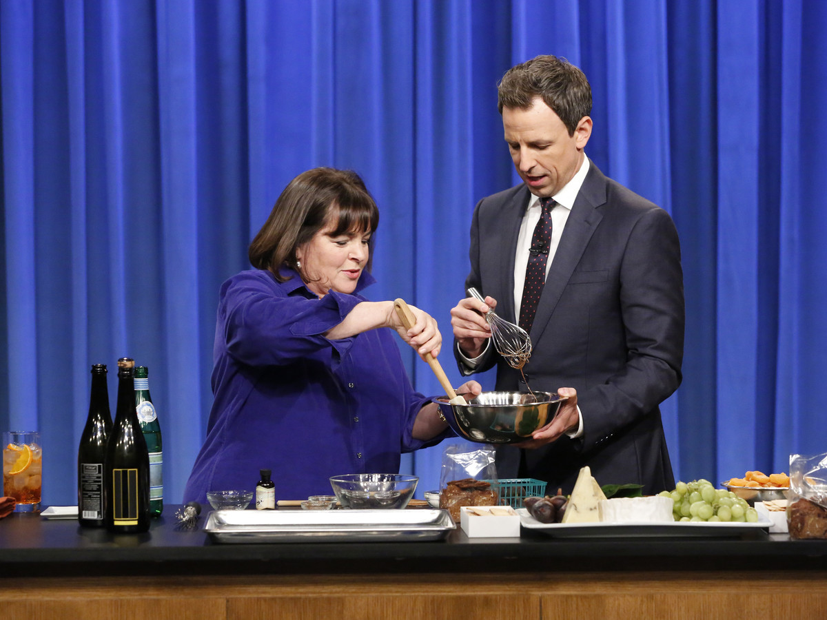 Ina Garten with Seth Meyers