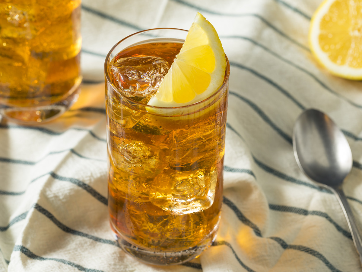 Sweet Tea on Table Cloth