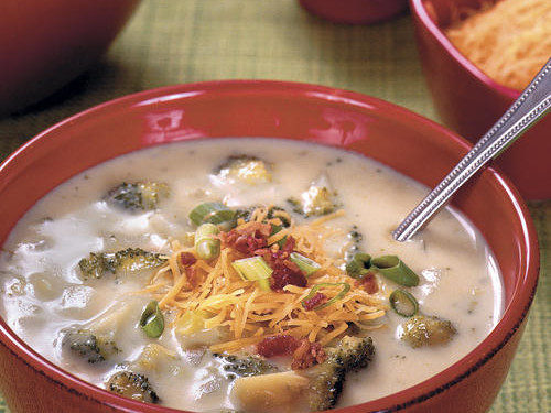 "[RECIPE_LINK ""1144131"" ""Baked Potato-and-Broccoli Soup""]"