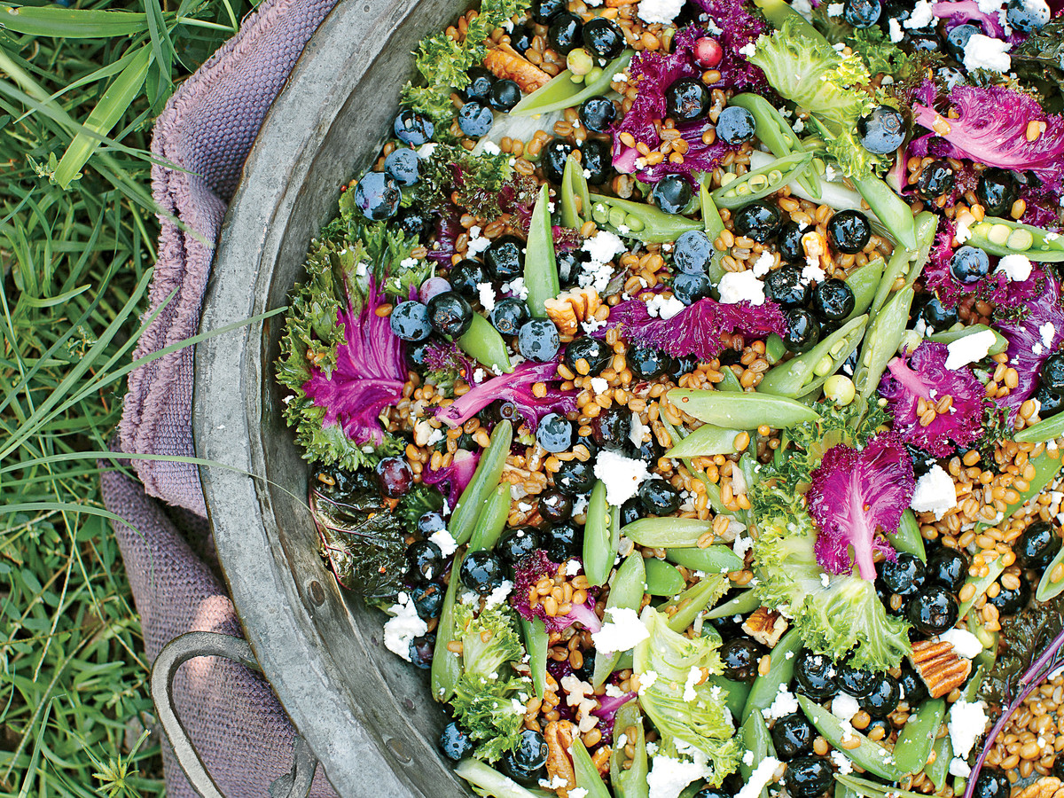 Blueberry-Kale Grain Salad Recipe