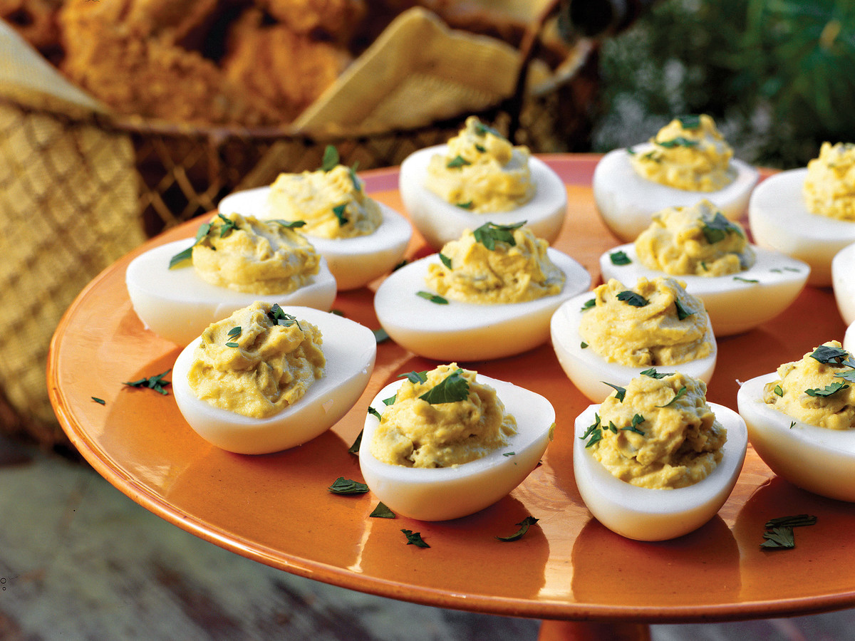Spicy Southwestern Deviled Eggs