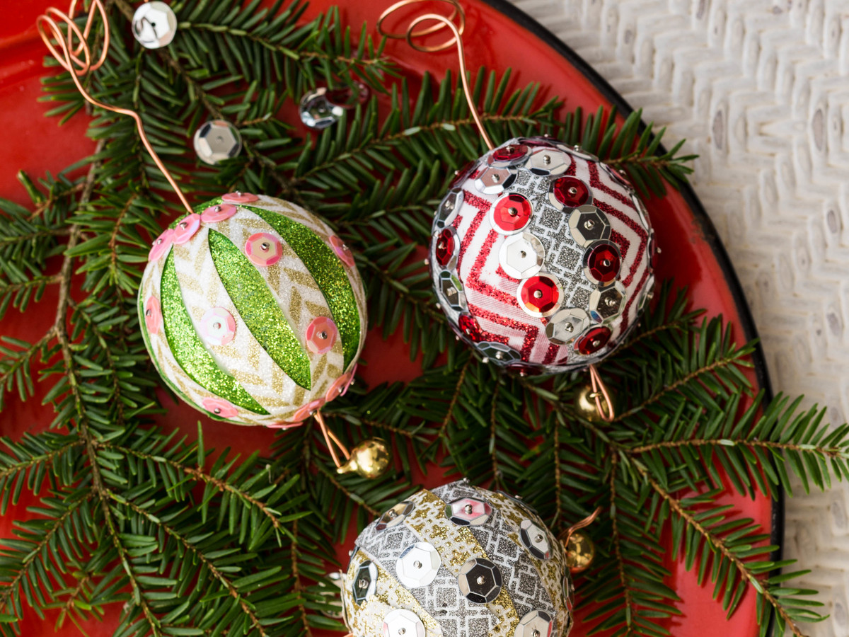 7 diy christmas ornaments to make from stuff you have lying around the house southern living - Great christmas ornaments that you need for your home ...