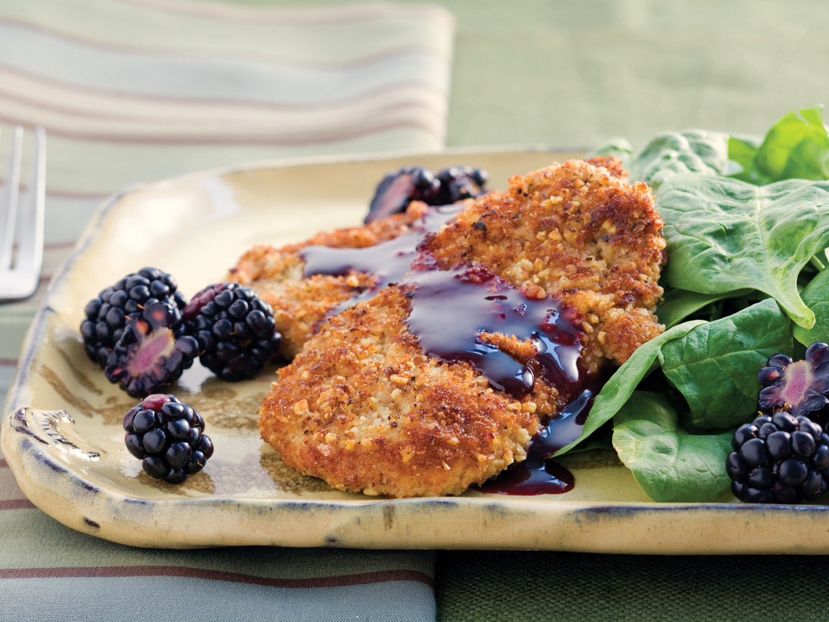 Sage-and-Pecan Pork Tenderloin Cutlets Recipe