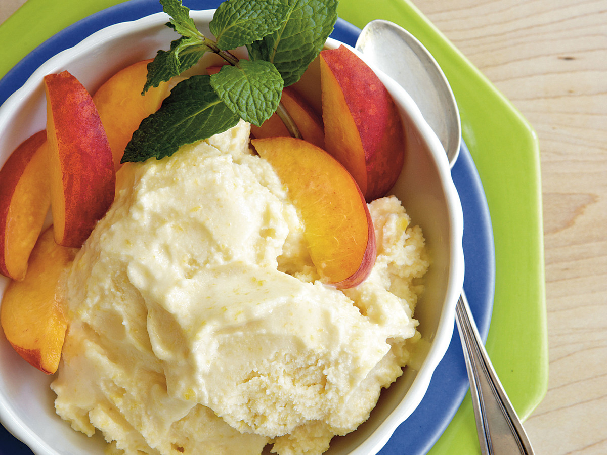 No-Cook Peach Ice Cream