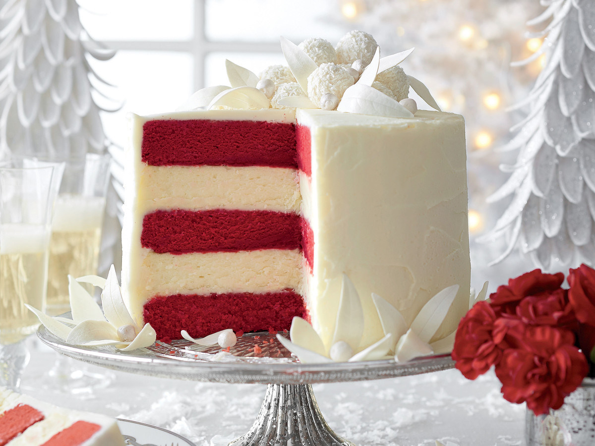 Southern Living Red Velvet White Chocolate Cheesecake
