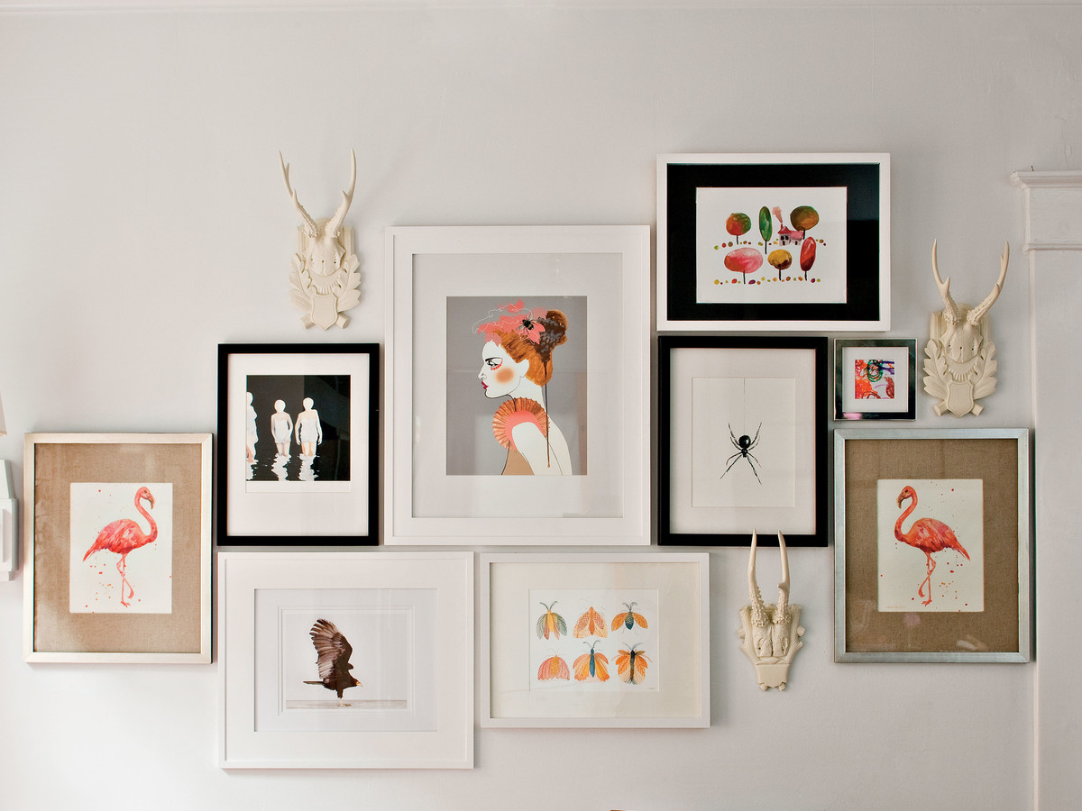 how to frame art southern living