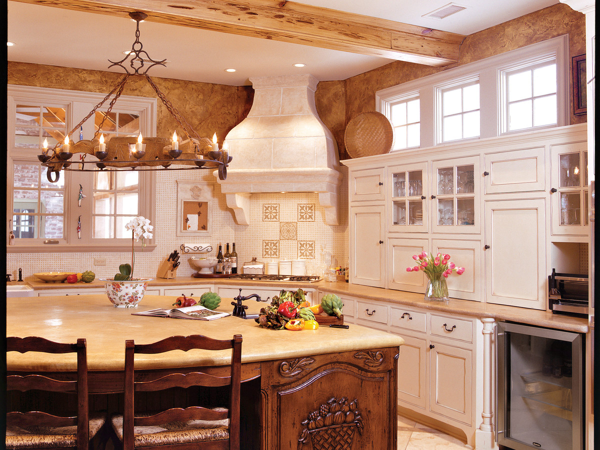 New 30 country french kitchens design decoration of for Southern style kitchen ideas