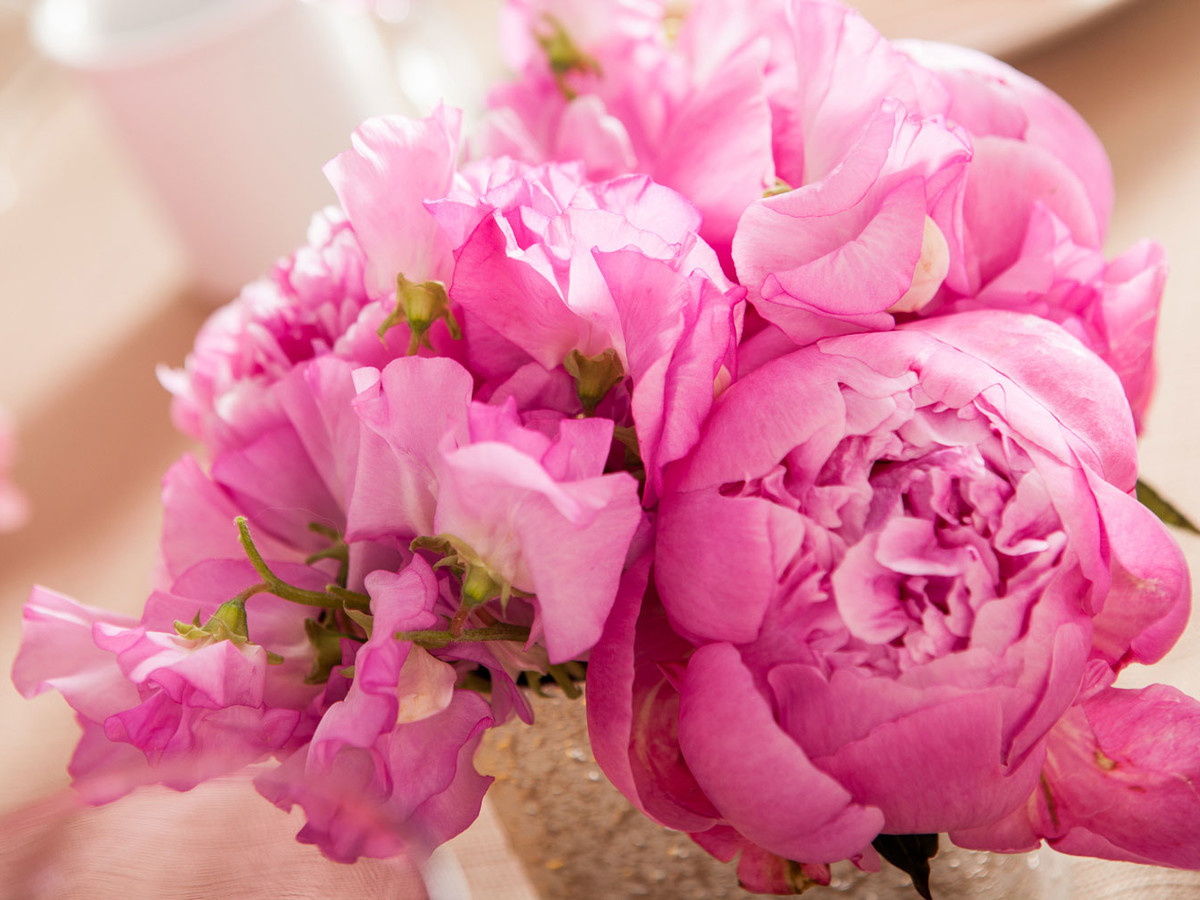 B Floral Easter Centerpiece Peony 1