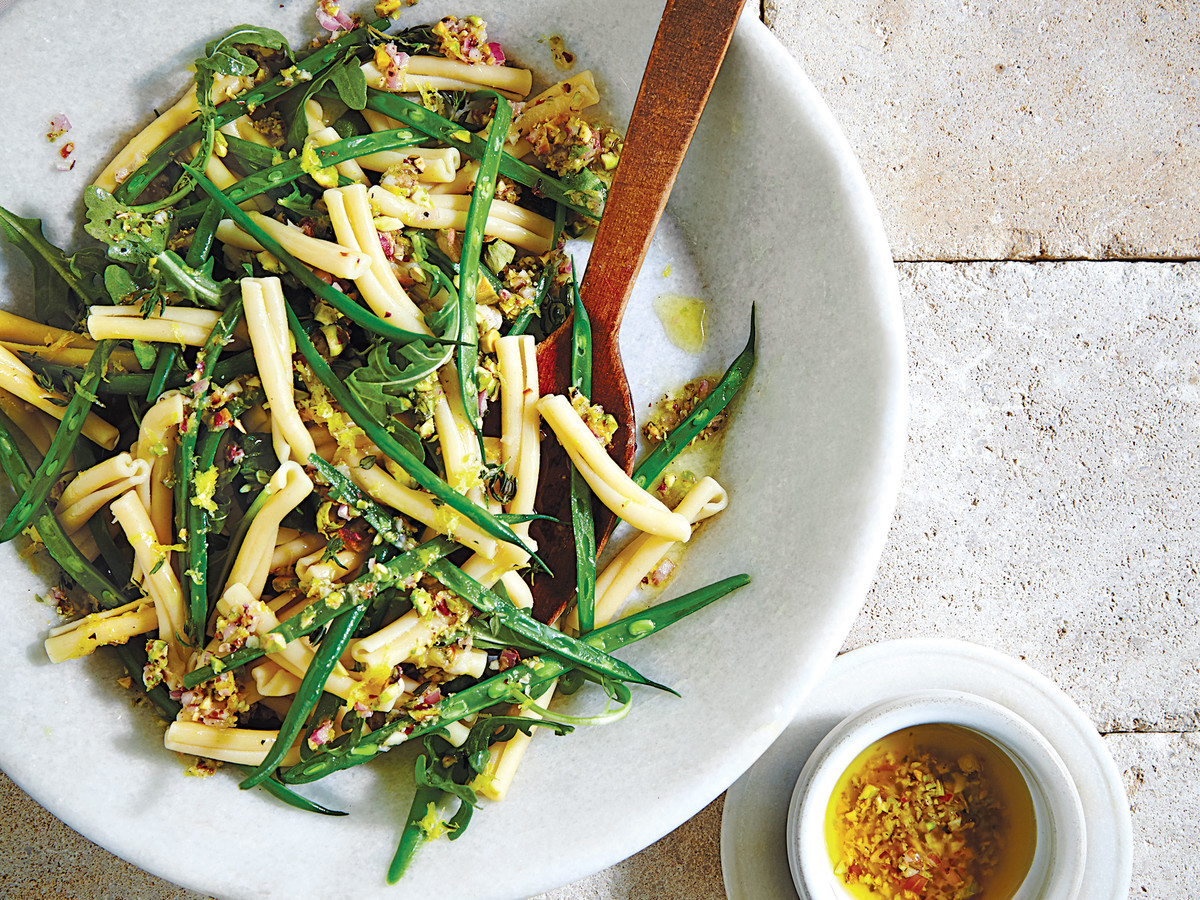 Lemony Green Bean Pasta Salad