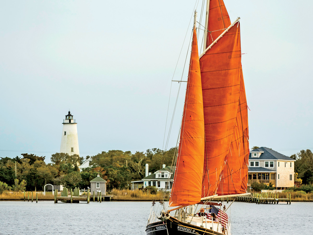 Sailboat Ocracoke Village North Carolina