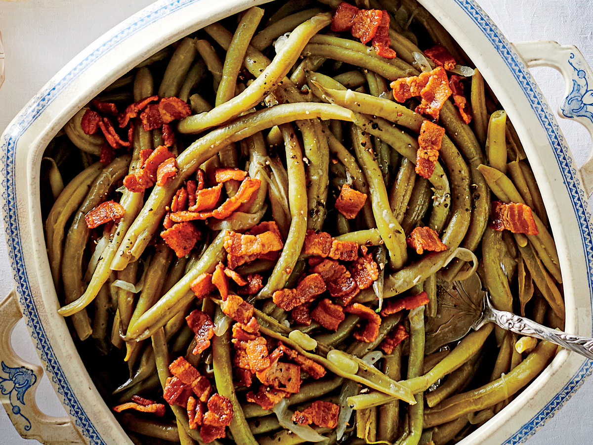 Slow cooker green beans recipe southern living for Easy thanksgiving green bean recipes