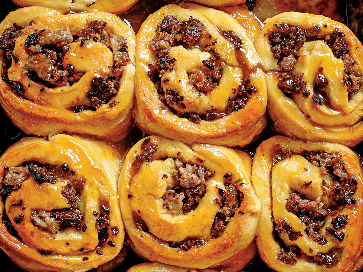 Sausage-Stuffed Honey Buns