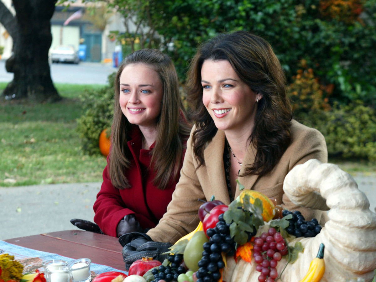 Lorelai and Rory Gilmore on Thanksgiving