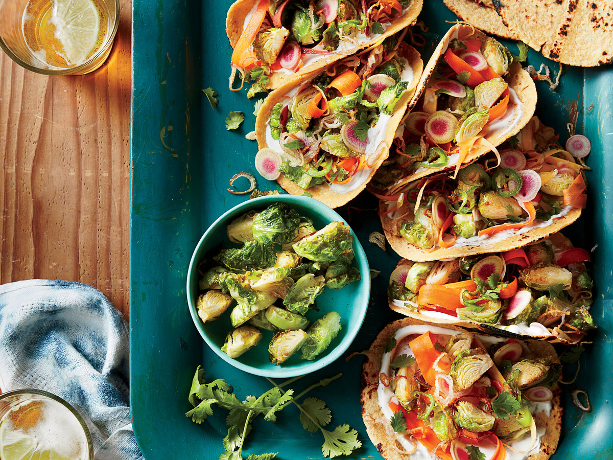 Fried Brussels Sprout Tacos
