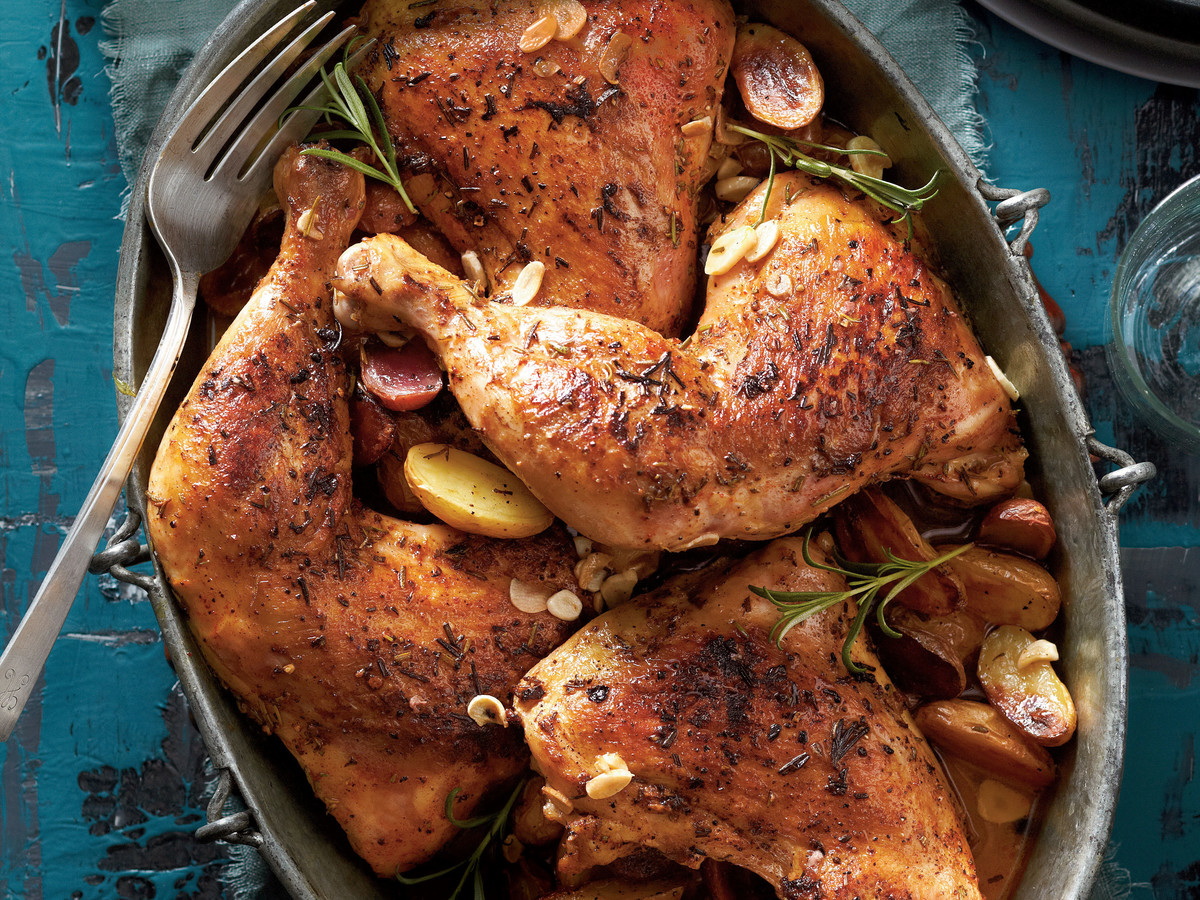 Rosemary-Garlic Chicken Quarters