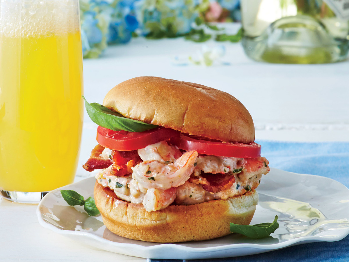 Shrimp and Bacon Salad Sliders