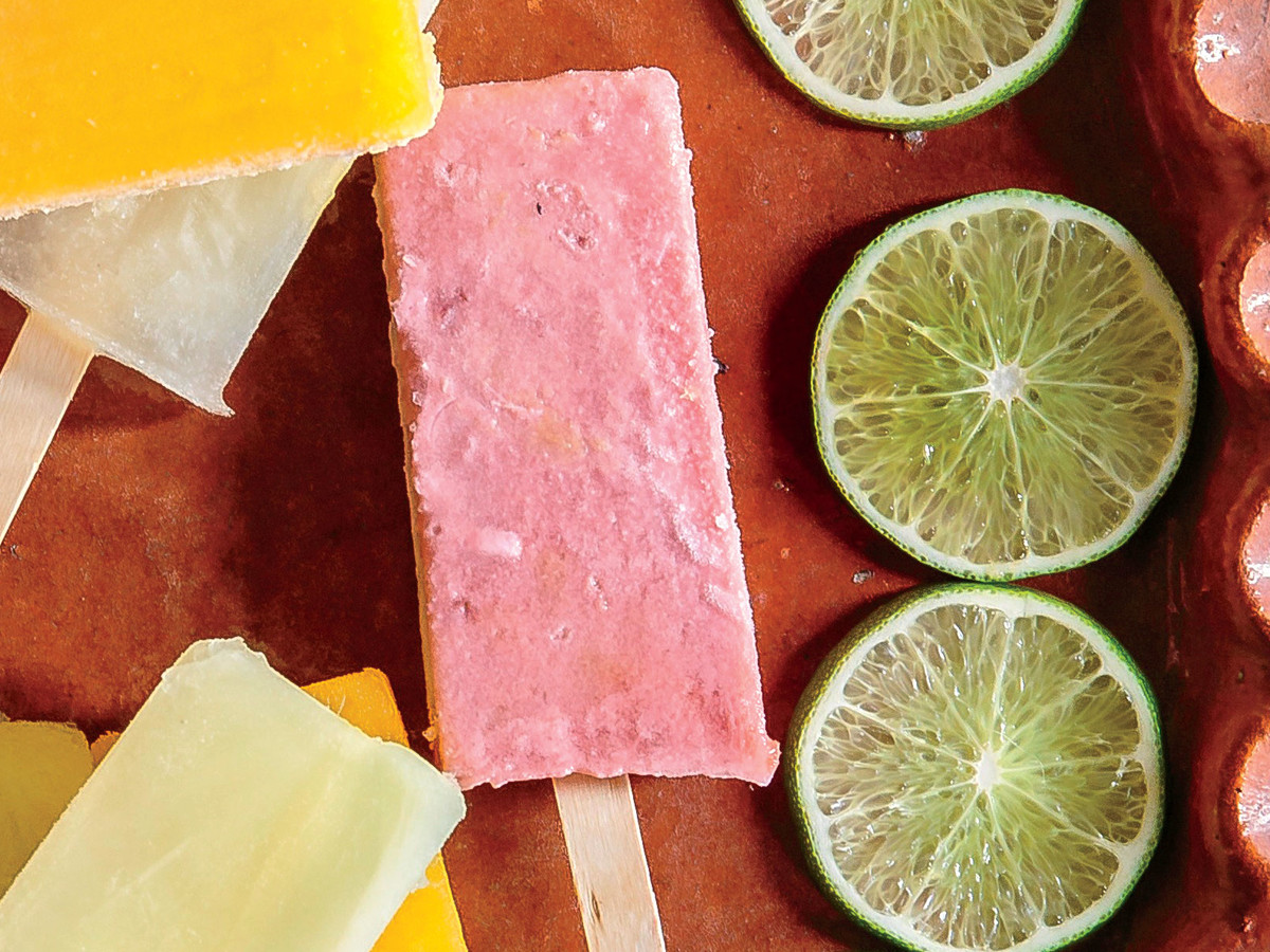 Strawberry-Coconut Paletas