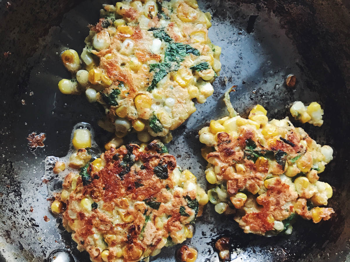 Caramelized Corn Fritters