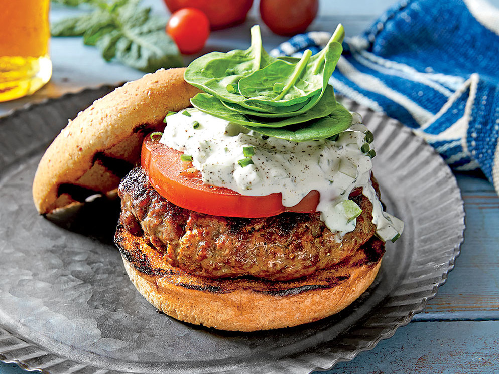 Burgers with Green Tomato Mayonnaise