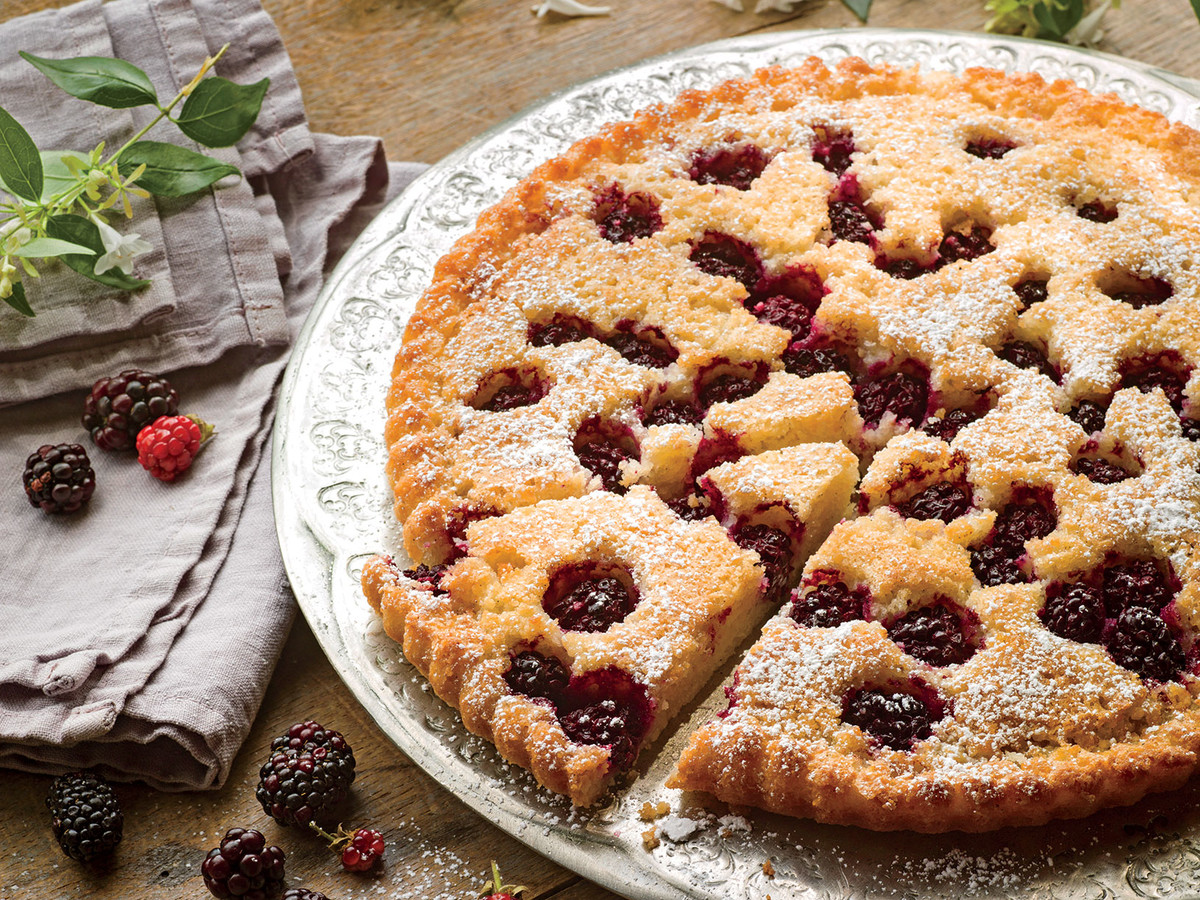 Blackberry, Browned Butter, and Almond Tart