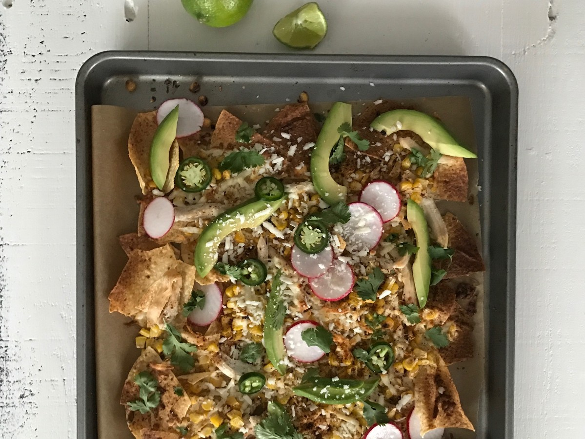 Farmer's Market Summer Sheet Pan Nachos